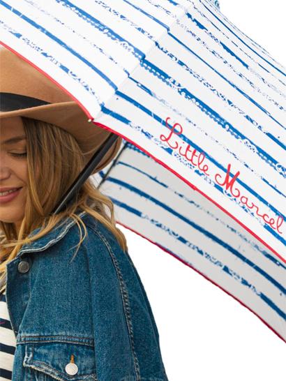 Parapluie rayure bleu - Little Marcel