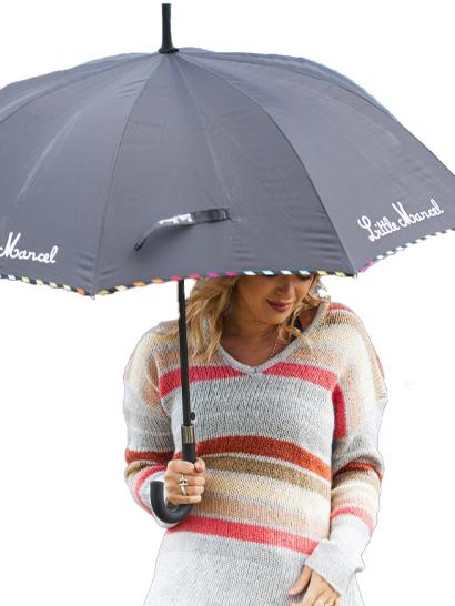 Parapluie rayure noir - Little Marcel